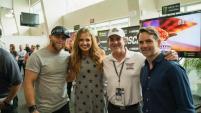 Brantley Gilbert And Carly Pearce Enjoy NASCAR