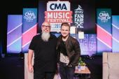 Hunter Hayes Enjoys CMA Fest With Spotify's John Marks