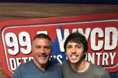 Morgan Evans Visits WYCD/Detroit