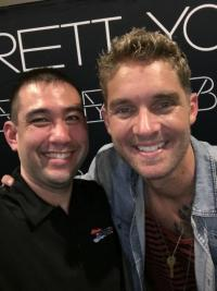 Brett Young Takes A Selfie For KUZZ/Bakersfield