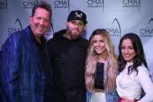 Brantley Gilbert, Lindsay Ell Hang At 'CMA Awards' Radio Remotes