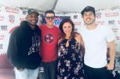 Jimmie Allen, Morgan Evans Hang At 'WMZQ Fest'