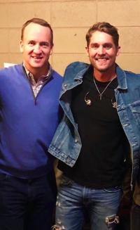 Brett Young Hangs With Peyton Manning