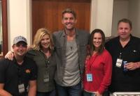 Brett Young Hangs In Anaheim With Radio Friends