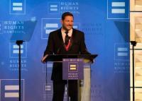 Ty Herndon Accepts HRC Visibility Award