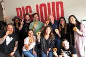 Big Loud Team Enjoys Their Bagels 'Homemade'
