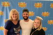 Dylan Scott Poses With WHKO/Dayton, OH