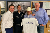 KKGO/Los Angeles Joins Justin Moore On LAPD Visit