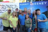 Kenny Chesney Enjoys Backstage Radio Hang