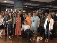 Teddy Robb Enjoys Happy Hour With Radio Friends